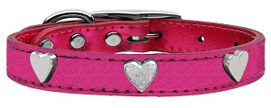 Metallic Heart Leather Pink MTL 26